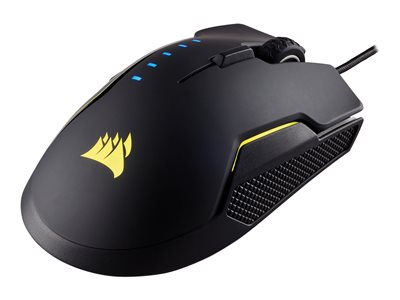 CORSAIR Gaming GLAIVE RGB Optisk Kabling Sort