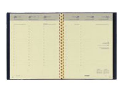 Brepols Ravenna Timing - Agenda - semainier - 168 x 220 mm - noir