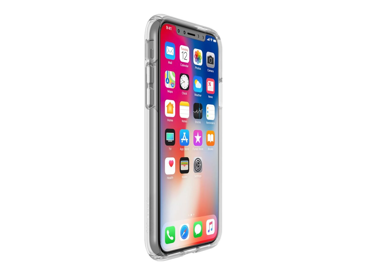 Speck Presidio Clear iPhone X - back cover for cell phone