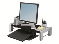 Fellowes Professional Series Flat Panel Workstation - Stand for Monitor - black, silver