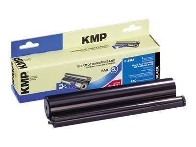 KMP F-SH4 - 1 - Schwarz - 220 mm x 50 m - Farbband (Alternative zu: Sharp UX-6CR) - für Sharp NX-A550, P500; UX-A450, P100, P400, S10