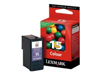 Lexmark Cartridge No. 15 - Couleur (cyan, magenta, jaune)