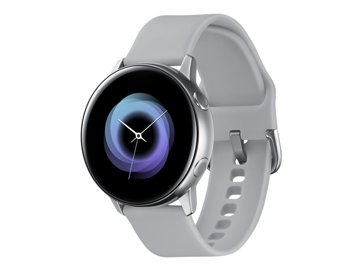 Samsung Galaxy Watch Active - silver - smart watch with band - 4 GB