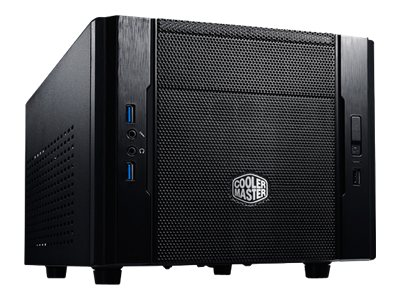 Cooler Master Elite 130 - Ultra Small Form Factor - Mini-ITX - ohne Netzteil (ATX / PS/2) - Schwarz - USB/Audio