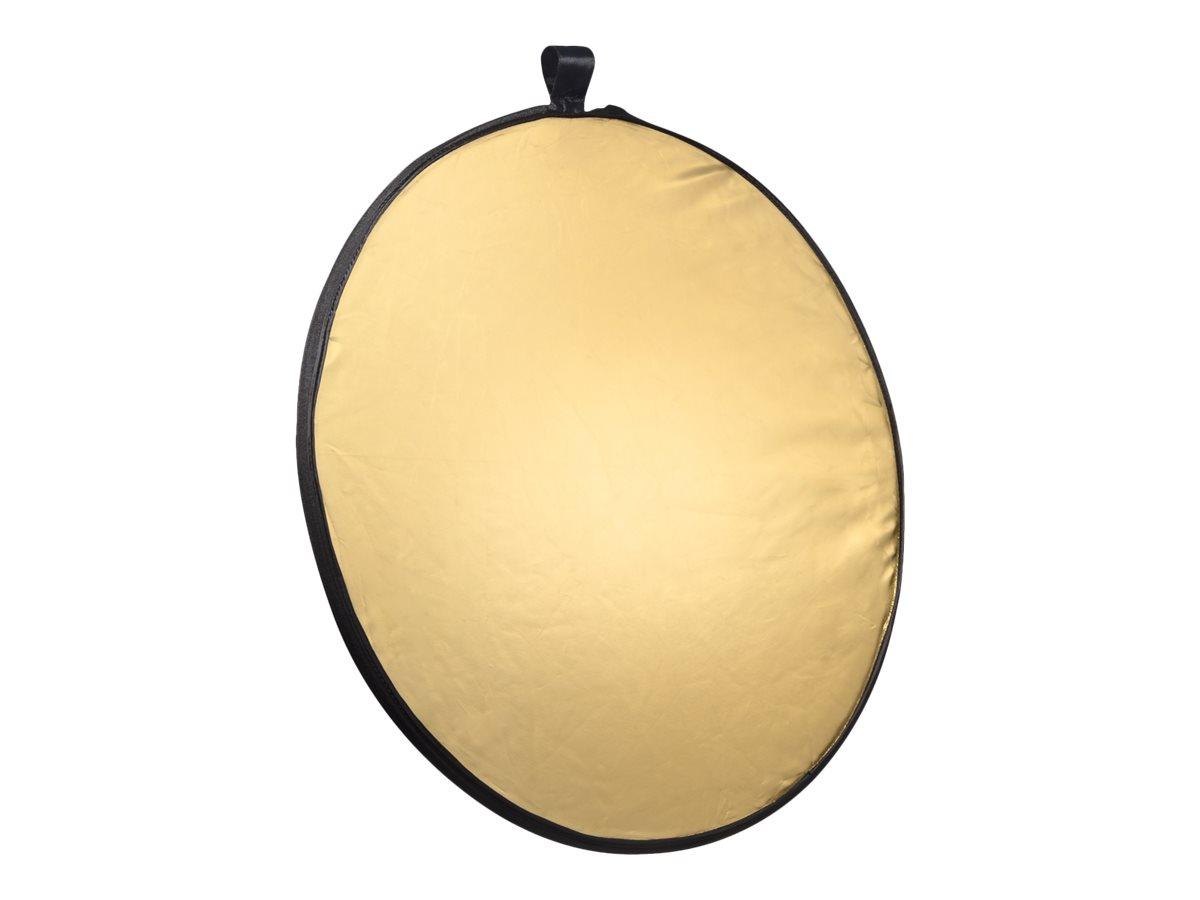 mantona Foldable Reflector 5 in 1 - Faltbarer Reflektor - Black/Gold/Silver/Translucent/White - Ø108 cm