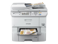 Epson WorkForce Pro WF-6590DWF - Imprimante multifonctions - couleur - jet d'encre - A4 (210 x 297 mm) (original) - A4/Legal (support) - jusqu'à 22 ppm (copie) - jusqu'à 34 ppm (impression) - 580 feuilles - 33.6 Kbits/s - USB 2.0, Gigabit LAN, Wi-Fi(n), hôte USB, NFC