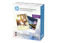 Picture of HP Social Media Snapshots - photo paper - 25 sheet(s) - 100 x 130 mm - 265 g/m² (W2G60A)
