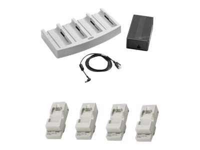 Zebra 4-Slot - Kit - battery charger - with 4x Battery Charger Adapter (21-32665-45AR)