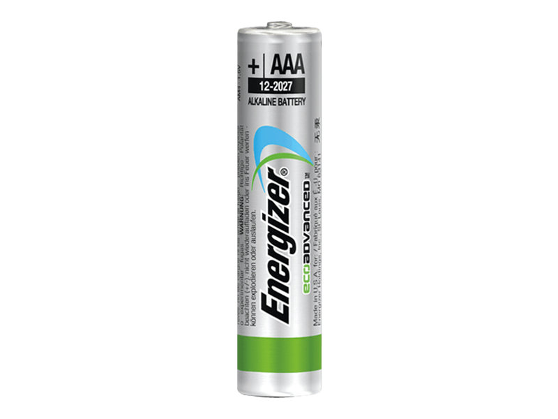 energizer ecoadvanced batterie 4 x type aaa alcaline piles batteries. Black Bedroom Furniture Sets. Home Design Ideas