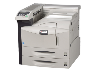 Kyocera FS-9130DN - Printer - monochrome - Duplex - laser - A3/Ledger - 1800 x 600 dpi - up to 40 ppm - capacity: 1200 sheets - parallel, USB, LAN, USB host