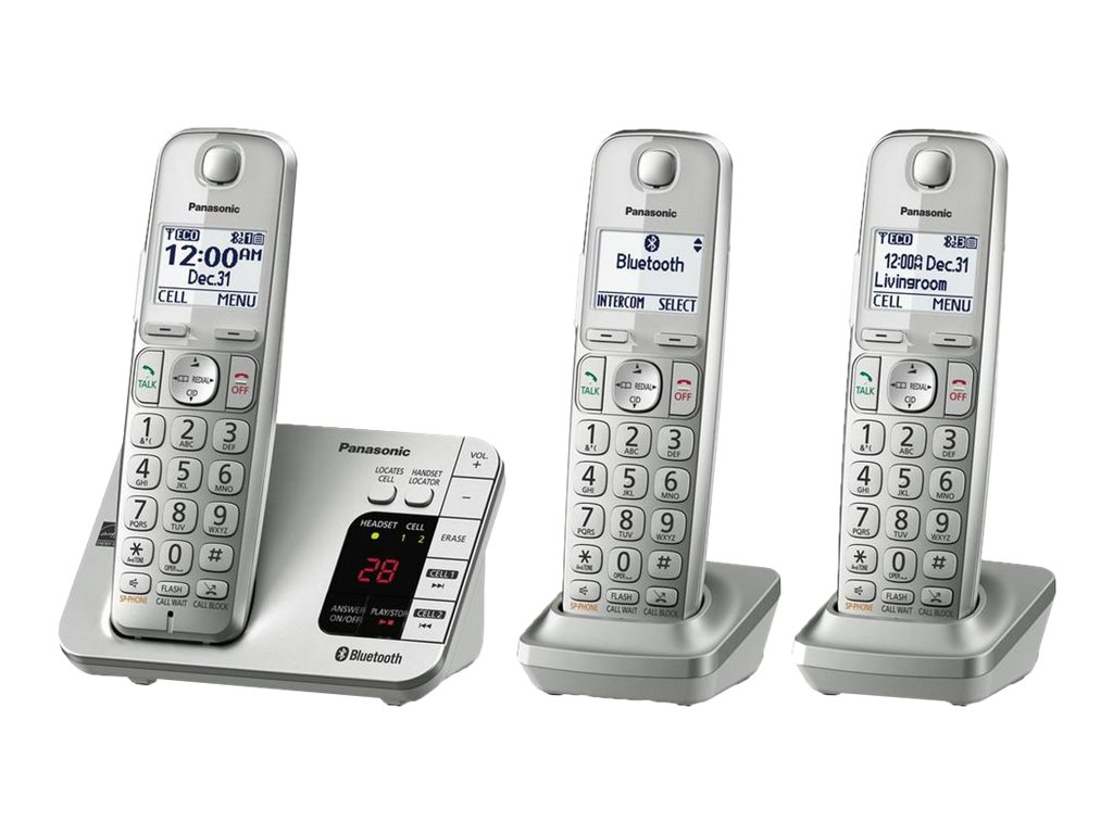 Panasonic Link2Cell KX-TGL463S - cordless phone - answering system - Bluetooth interface with caller ID/call waiting + …