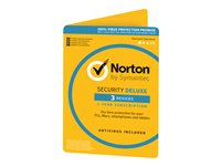 Norton Security Deluxe - ( v. 3.0 ) - bokspakke ( 1 år ) - 3 enheder - DVD - Win, Mac, Android, iOS - Nordisk