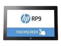 """HP RP9 G1 Retail System 9015 - All-in-one - 1 x Celeron G3900 / 2.8 GHz - RAM 4 GB - SSD 128 GB - 3D V-NAND technology - HD Graphics 510 - GigE - FreeDOS 2.0 - monitor: LED 15.6"""" 1366 x 768 (HD) touchscreen"""