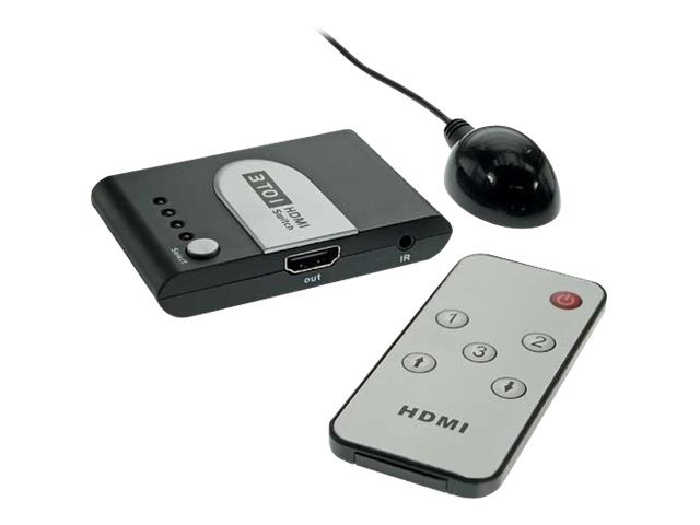 InLine HDMI automatic switch - Video/Audio-Schalter - 3 x HDMI - 1 lokaler Benutzer - Desktop