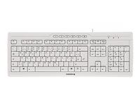 CHERRY STREAM 3.0 Keyboard USB French AZERTY key switch: CHERRY SX light gray
