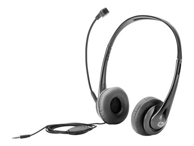 HP Headset on-ear wired black jack