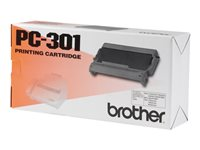 Brother PC301 1 black print ribbon