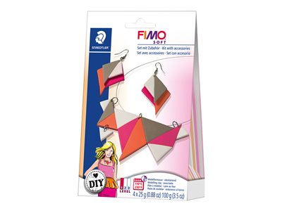 Kit de création FIMO soft DIY jewellery pack Triangles - pâte à modeler