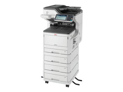 OKI MC853DNV - Multifunction printer - colour - LED - 297 x 431.8 mm (original) - A3 (media) - up to 23 ppm (copying) - up to 23 ppm (printing) - 2005 sheets - 33.6 Kbps - USB 2.0, Gigabit LAN, USB host