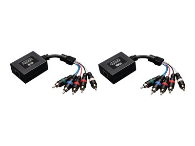 Tripp Lite Component Video with Stereo Audio over Cat5/Cat6 Extender Kit - Video/audio extender - up to 699 ft