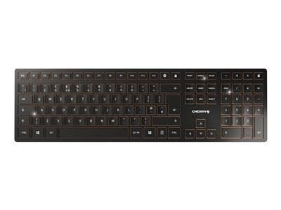 CHERRY DW 9000 SLIM Keyboard and mouse set wireless 2.4 GHz, Bluetooth 4.0