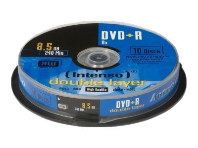 Intenso - 10 x DVD+R DL - 8.5 GB 8x - Spindel