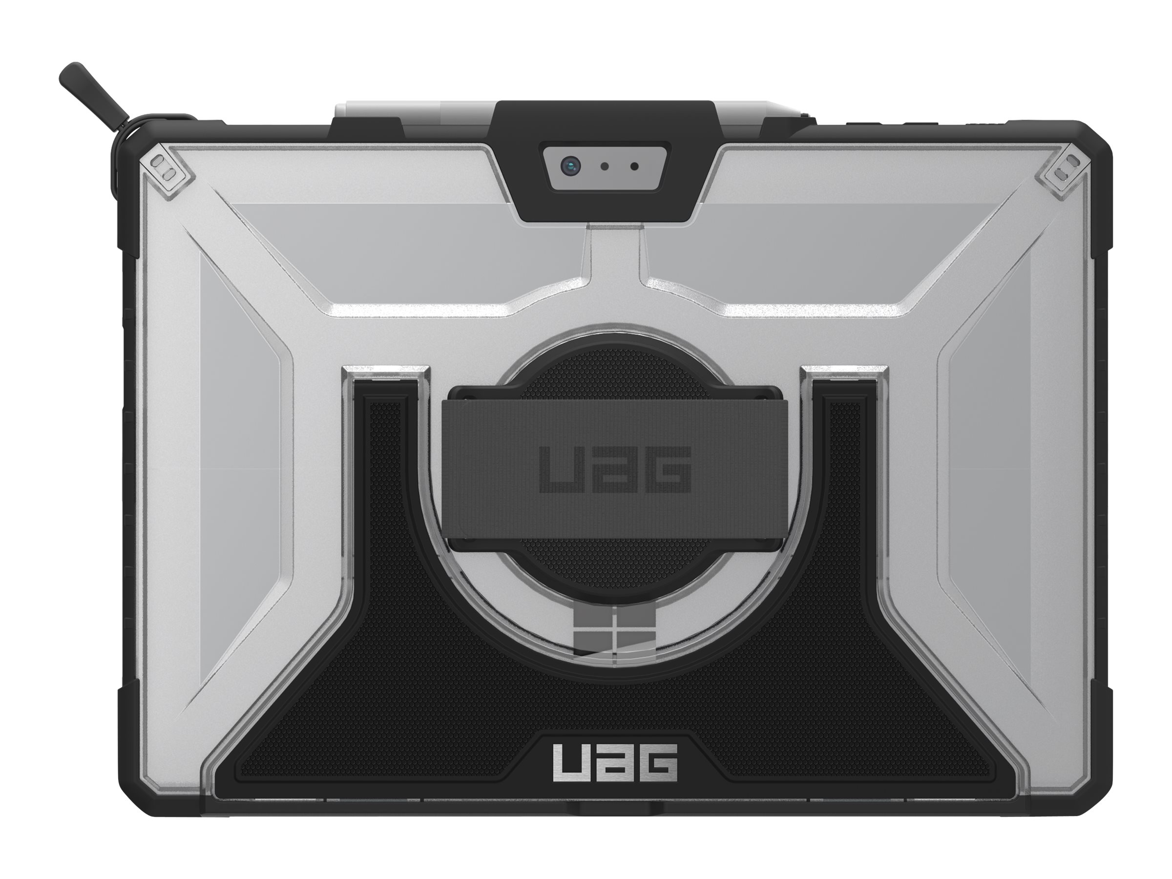UAG Rugged Case for Surface Pro 6, Pro 5th Gen, & Pro 4 w/ Handstrap - Plasma Ice - back cover for tablet