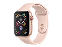 "Apple Watch Series 4 (GPS + Cellular) - 40 mm - or-aluminium - montre intelligente avec bande sport - fluoroélastomère - sable rose - taille de bande 130-200 mm - affichage 1.57"" - 16 Go - Wi-Fi, Bluetooth - 4G - 30.1 g"
