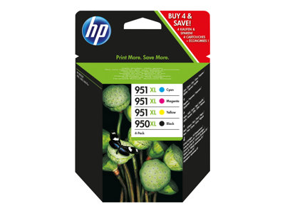 HP 950XL/951XL Combo Pack Sort Gul Cyan Magenta