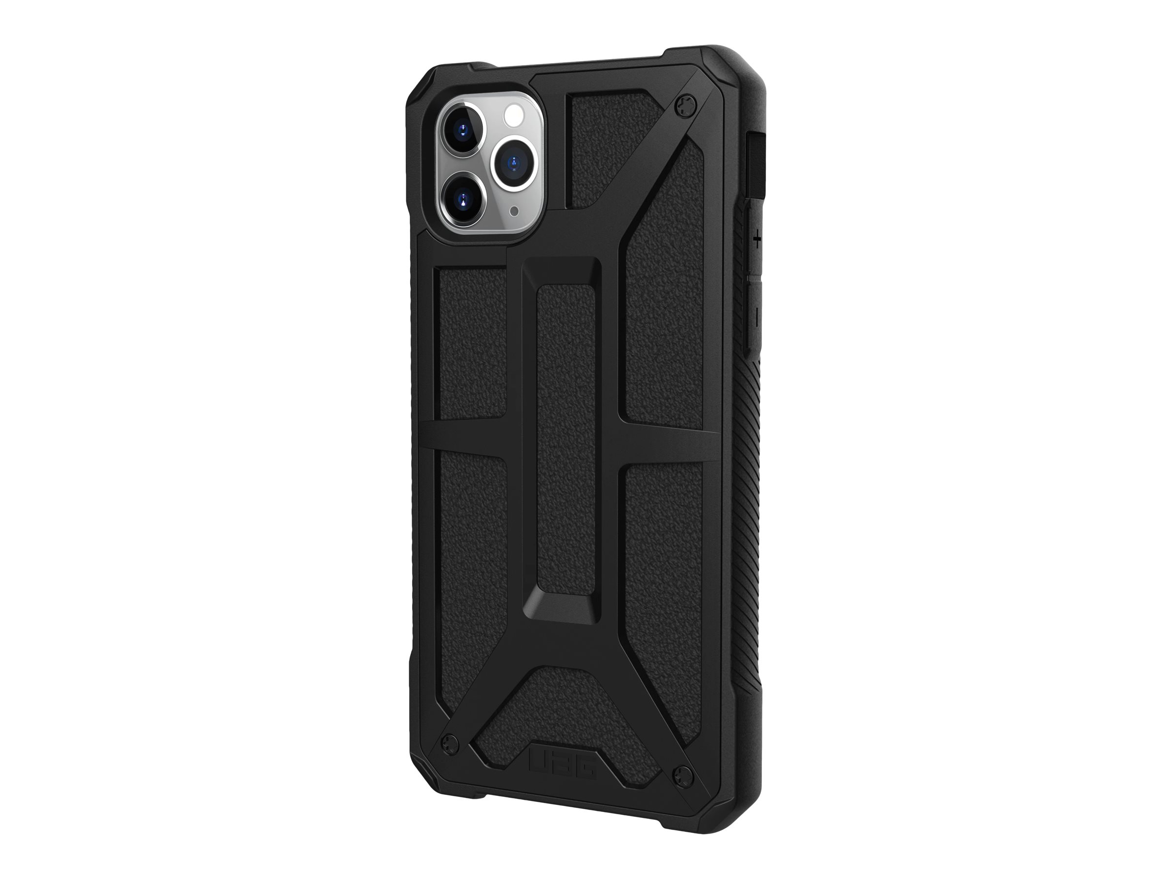 UAG Rugged Case for iPhone 11 Pro Max [6.5-inch screen] - Monarch Black - back cover for cell phone