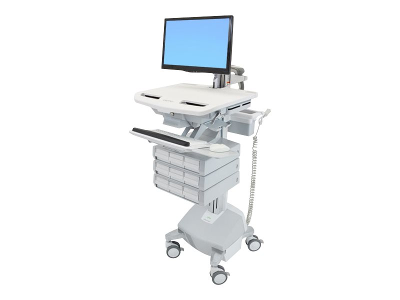 Ergotron StyleView Cart with LCD Arm, LiFe Powered, 9 Drawers - cart