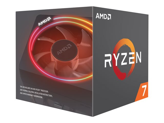 AMD Ryzen 7 2700X - 3.7 GHz - 8 cœurs - 16 filetages - 16 Mo cache - Socket AM4 - Box