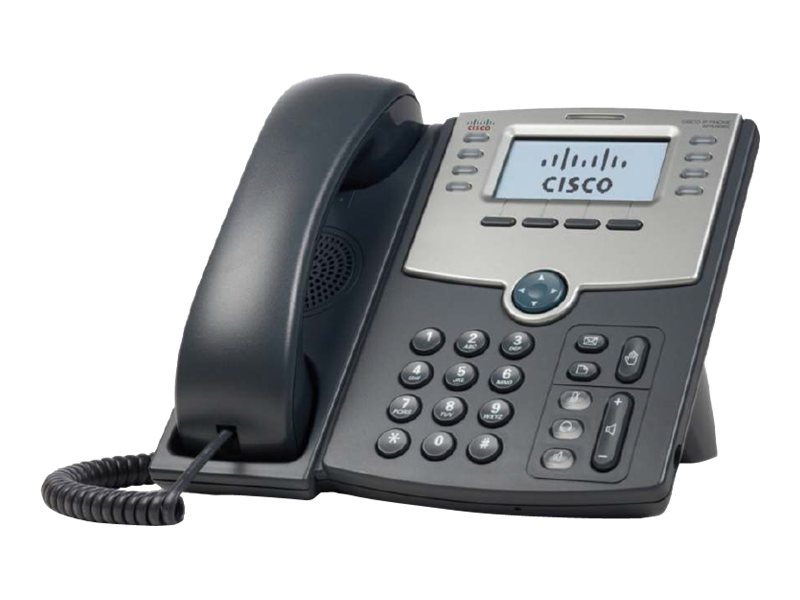 Cisco Small Business SPA 508G - VoIP-Telefon - SIP, SIP v2, SPCP - mehrere Leitungen - Silber, Dunkelgrau - für Small Business Pro Unified Communications 320 with 4 FXO
