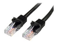 StarTech.com 15 ft Black Cat5e / Cat 5 Snagless Patch Cable 15ft