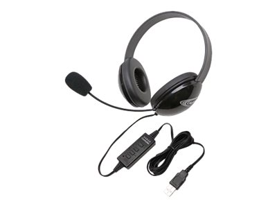 Califone Listening First Stereo Headset 2800BK-USB Headset full size wired black