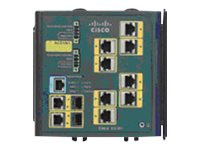 Cisco Industrial Ethernet 3000 Series - Switch - L2+ - verwaltet - 8 x 10/100 + 2 x Kombi-Gigabit-SFP - an DIN-Schiene montierbar