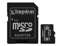 Kingston Canvas Select Plus - flash-minneskort - 16 GB - microSDHC UHS-I