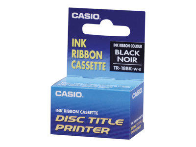 Casio TR-18BK 1 black print ribbon for Disc Tit