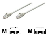 Intellinet patch cable - 15 cm - gray