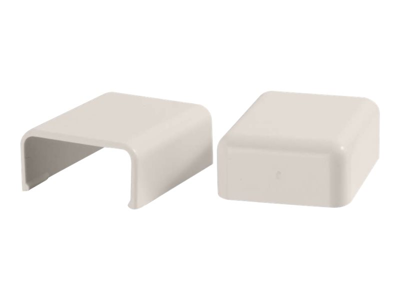 C2G 2 Pack Wiremold Uniduct 2800 Blank End Fitting - Fog White - cable raceway blank end fitting