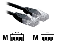 3M Black RJ45 UTP CAT 6 Stranded Flush Moulded Snagless Network Cable 24AWG LS0H