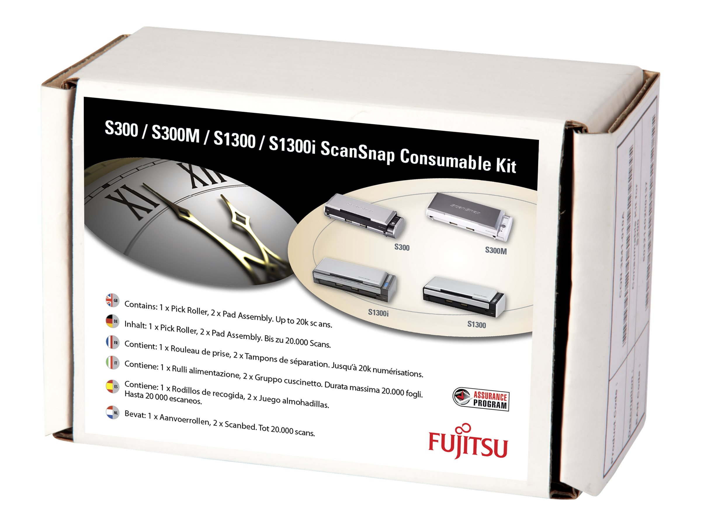 Fujitsu Consumable Kit - Scanner - Verbrauchsmaterialienkit - für ScanSnap S1300i, S1300i Deluxe, S300