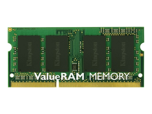 Kingston ValueRAM - DDR3 - 4 Go - SO DIMM 204 broches - 1600 MHz / PC3-12800 - CL11 - 1.5 V - mémoire sans tampon - non ECC
