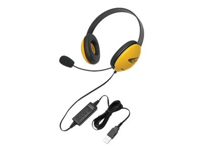 Califone Listening First Stereo Headset 2800YL-USB Headset full size wired yellow