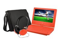 Ematic EPD909 DVD player portable display: 9INCH red