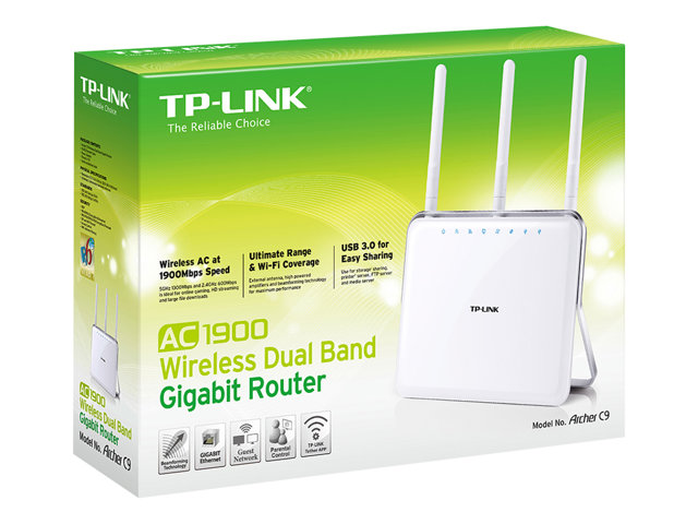 Image of TP-Link ARCHER C9 AC1900 - wireless router - 802.11a/b/g/n/ac - desktop
