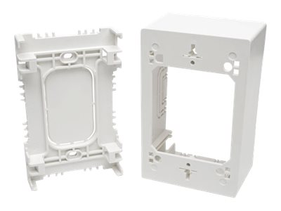 Tripp Lite Single-Gang Surface-Mount Junction Box Wallplate White - cable raceway junction box