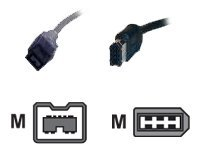 WiebeTech Cable-11 IEEE 1394 cable FireWire 800 (M) to 6 pin FireWire (M) 3.3 ft blac