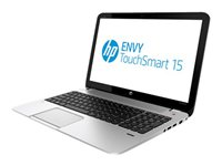 "HP ENVY TouchSmart 15-J050US - Core i7 4700MQ / 2.4 GHz - Win 8 - 8 GB RAM - 1 TB HDD - 15.6"" touchscreen HD BrightView 1366 x 768 (HD) - HD Graphics 4600 - natural silver"