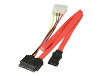 "Lindy Slimline SATA Cable with 5.25"" PSU Power Connection - SATA-Kabel"